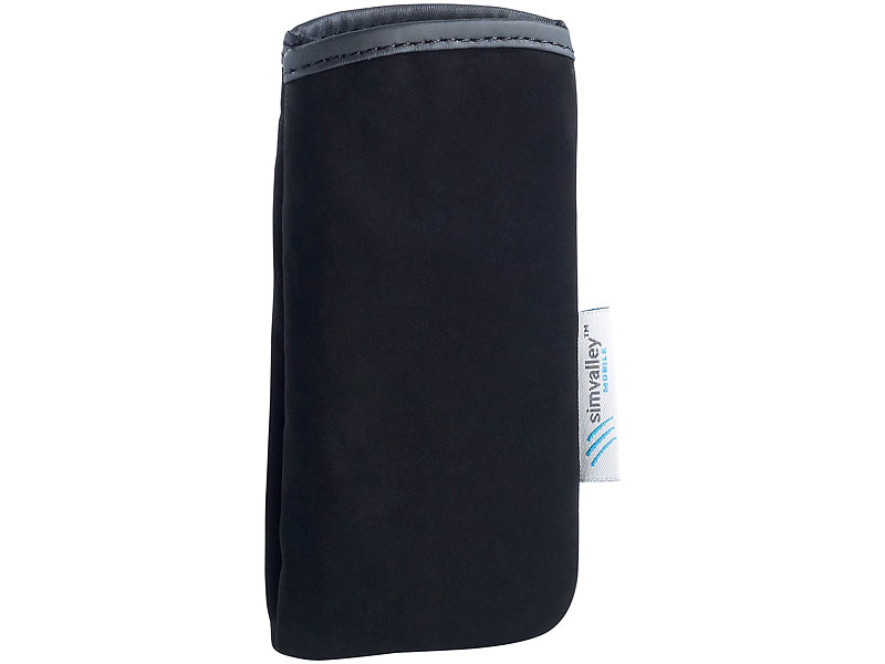 "simvalley MOBILE Sleeve für 4"" Smartphone SP-120, SP-121 & SP-2X.SLIM"