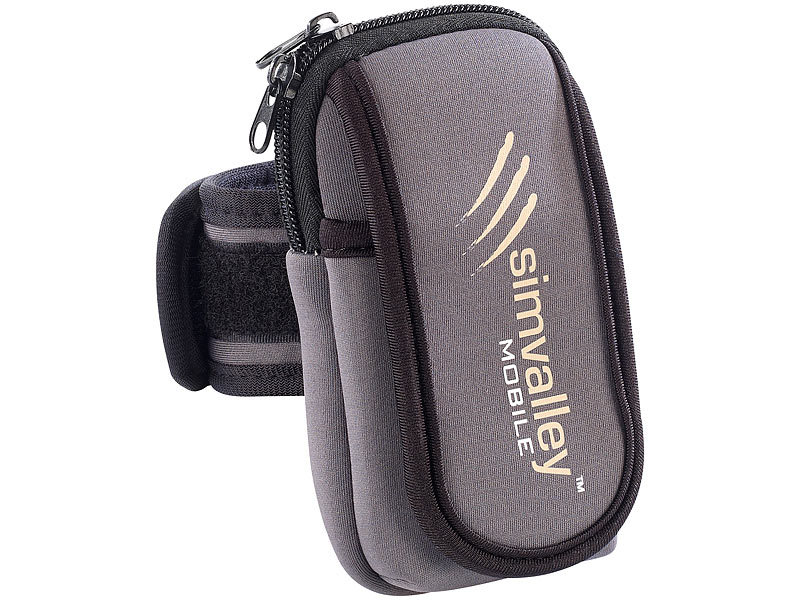 simvalley MOBILE Neopren-Tasche für Outdoor-Handy XT-640