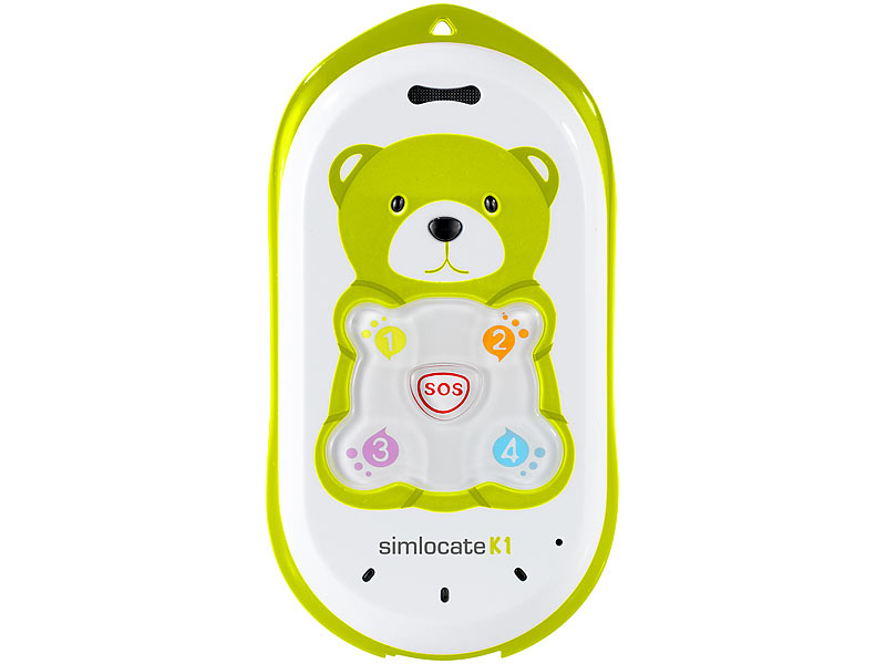 simvalley MOBILE Kinder-Handy simlocate K1 mit Garantruf & GPS-Ortung (refurbished)