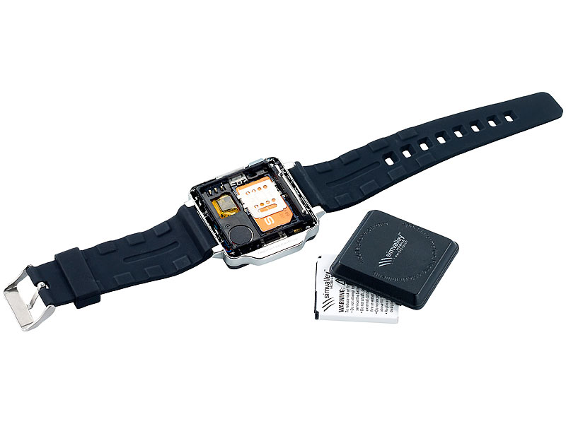 simvalley MOBILE Handy-Uhr PW-315 touch Uhrenhandy