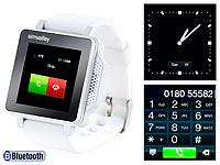 simvalley MOBILE Handy-Uhr PW-315.touch Weiß Handy/Uhr/Mediaplayer