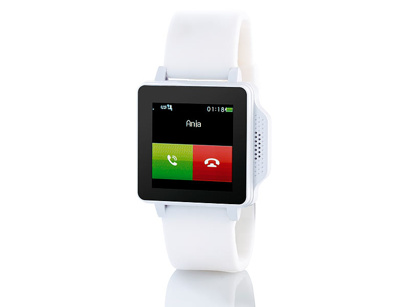 simvalley MOBILE Handy-Uhr PW-315.touch Weiß Handy/Uhr (refurbished)