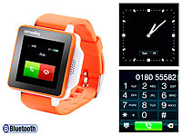 simvalley MOBILE Handy-Uhr PW-315.touch Orange Handy/Uhr (refurbished)