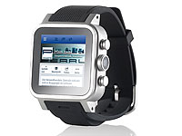 "simvalley MOBILE 1.5""-Smartwatch AW-421.RX Android/BT/WiFi, Alu, 1 GB; Simvalley Zubehör, Smartwatch Simvalley Zubehör, Smartwatch Simvalley Zubehör, Smartwatch"