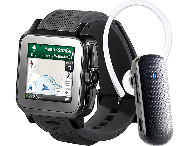 "simvalley MOBILE 1.5""-Smartwatch AW-414.Go inkl. BT-Headset; Simvalley Smartphone & Smartwatches, Smartwatch Simvalley Smartphone & Smartwatches, Smartwatch Simvalley Smartphone & Smartwatches, Smartwatch"