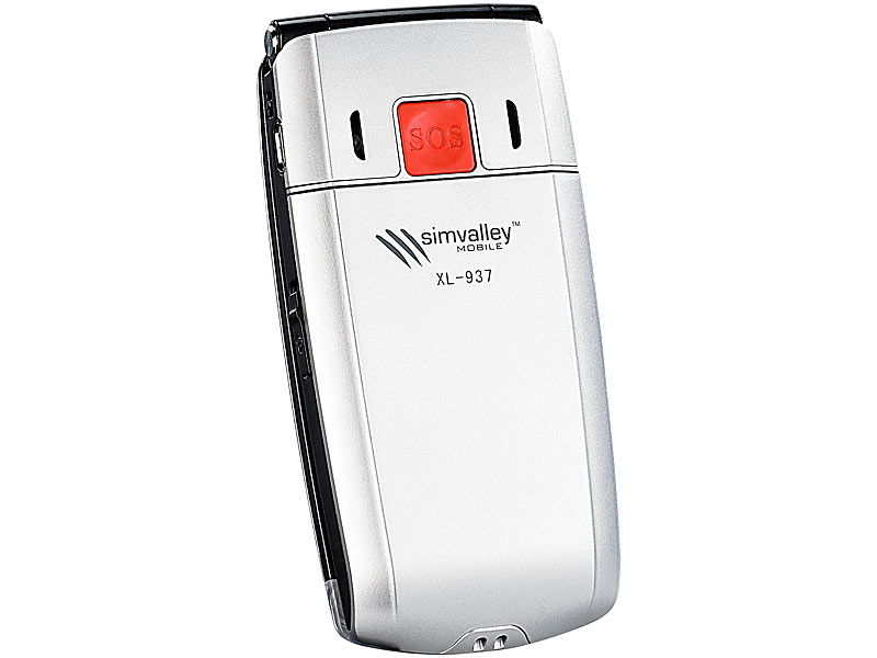 simvalley MOBILE Klapp-Notruf-Handy XL-937 + Ladestation (refurbished)