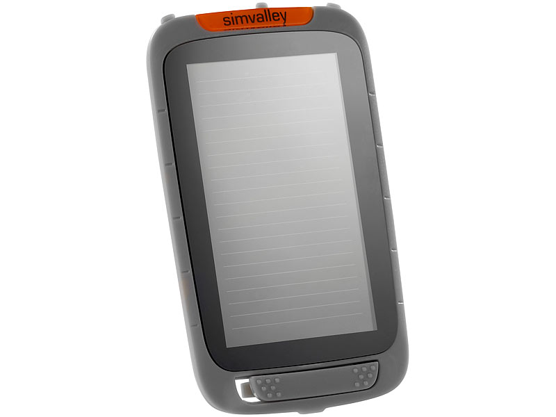 simvalley MOBILE Solar-Panel für Outdoor-Handy XT-930, grau