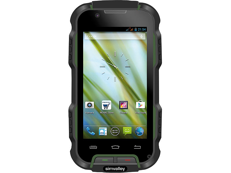 "simvalley MOBILE Outdoor-Smartphone SPT-900 V2, 4"", Android 4.4, IP68; Android Smartphones Android Smartphones"