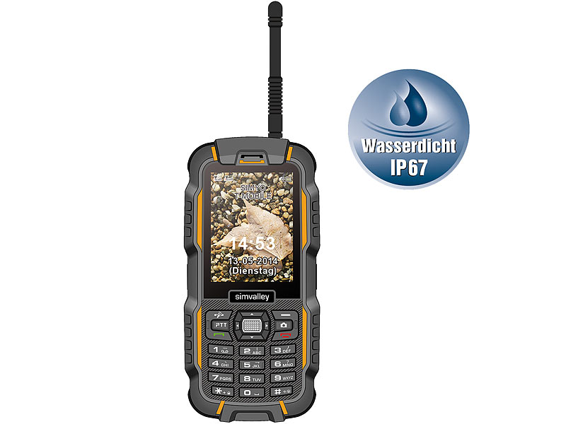 simvalley MOBILE Dual-SIM-Outdoor-Handy mit Walkie-Talkie XT-980 (refurbished)