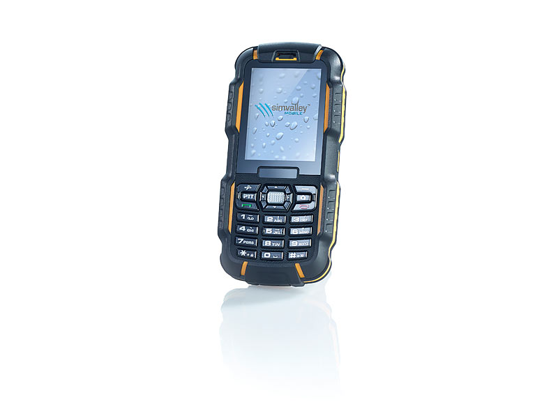 simvalley MOBILE Dual-SIM-Outdoor-Handy und Walkie-Talkie XT-980; Outdoor Handy, Simvalley Zubehör Outdoor Handy, Simvalley Zubehör Outdoor Handy, Simvalley Zubehör