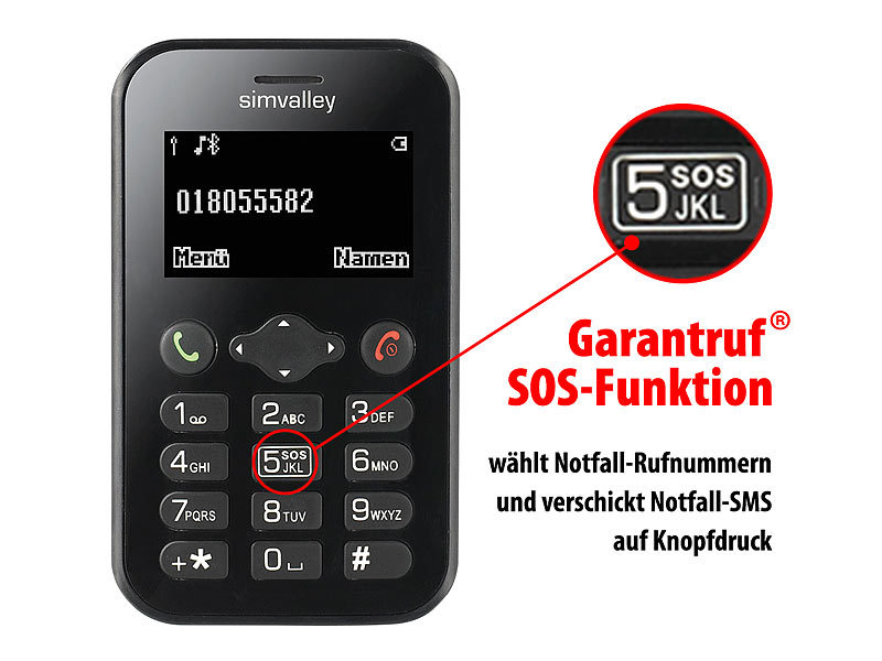 simvalley MOBILE Scheckkarten-Handy Pico RX-484 mit BT, Garantruf; Mini handy, Simvalley Handys & Handy-Uhren Mini handy, Simvalley Handys & Handy-Uhren Mini handy, Simvalley Handys & Handy-Uhren