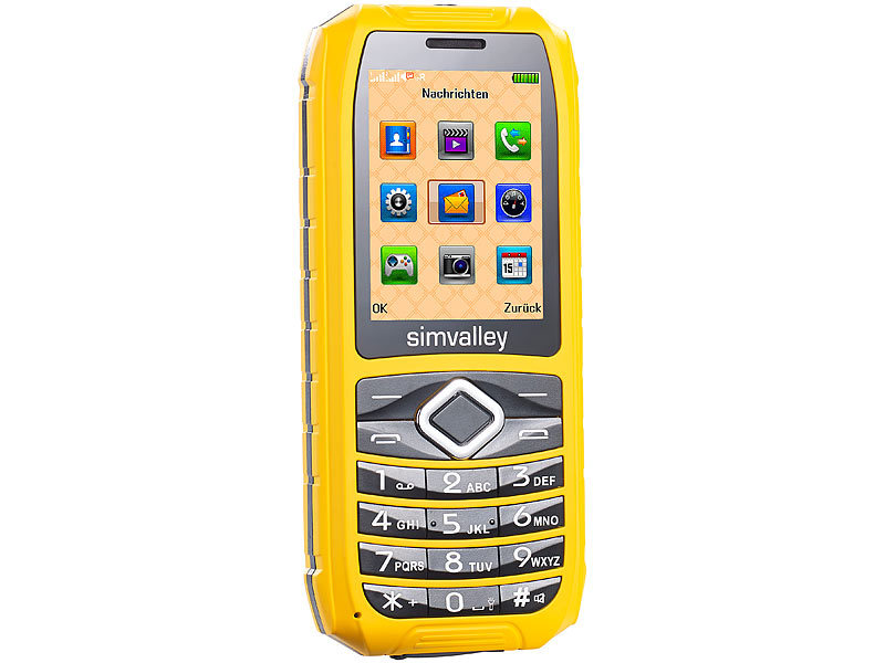 simvalley MOBILE Outdoor-Handy XT-680, wasserdicht IP67, Dual-SIM (refurbished)