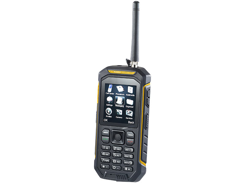 simvalley MOBILE Dual-SIM-Outdoor-Handy mit Walkie-Talkie XT-820