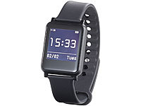 simvalley MOBILE Bluetooth-4.0-Smartwatch SW-200.hr, Fitness, Puls, Benachrichtigungen