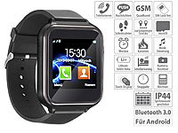 simvalley MOBILE 2in1-Handy-Uhr & Smartwatch für Android, Touch-Display, Bluetooth, App