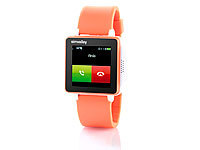 simvalley MOBILE Handy-Uhr PW-315.touch Orange Handy/Uhr/Mediaplayer