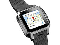 "simvalley MOBILE 1.5""-Smartwatch AW-414.Go mit Android4, BT, WiFi, Cam; Handy-Uhren Handy-Uhren Handy-Uhren Handy-Uhren"