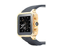 "simvalley MOBILE 1.5""-Smartwatch GW-420 Gold-Edition, echt vergoldet"