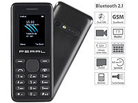 simvalley MOBILE Dual-SIM-Handy mit Kamera, Farb-Display, Bluetooth, FM, vertragsfrei