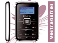 "simvalley MOBILE Mini-Handy RX-180 ""Pico INOX BLACK"" VERTRAGSFREI; Android-Smartphones"
