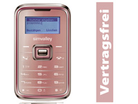 "simvalley MOBILE Mini-Handy RX-180 ""Pico INOX PINK"" (refurbished)"