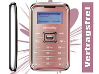 "simvalley MOBILE Mini-Handy RX-180 ""Pico INOX PINK"" VERTRAGSFREI"