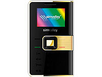 "simvalley MOBILE Mini-Handy RX-280 ""Pico COLOR Gold"" VERTRAGSFREI"