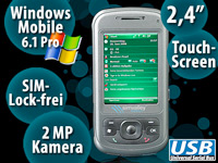 simvalley MOBILE Smartphone XP-25 mit Windows Mobile 6.1 VERTRAGSFREI