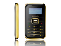 "simvalley MOBILE Mini-Handy RX-180 ""Pico INOX GOLD"" VERTRAGSFREI"