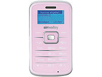 "simvalley MOBILE Mini-Handy RX-180 ""Pico INOX ROSY"" VERTRAGSFREI; Android-Smartphones"