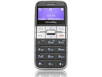 "simvalley MOBILE Designer-Komfort-Handy ""Easy-5"" Silber"