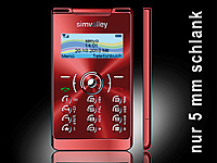"simvalley MOBILE Mini-Handy RX-380 ""Pico X-SLIM RED"""