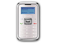"simvalley MOBILE Mini-Handy RX-180 ""Pico INOX WHITE"" VERTRAGSFREI; Android-Smartphones"