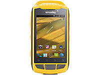 simvalley MOBILE Outdoor-Smartphone SPT-800 DC, Android 4.0, gelb