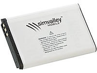 simvalley MOBILE Akku 600 mAh für Kinder-Handy KT-612