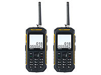 simvalley MOBILE Dual-SIM-Outdoor-Handy mit Walkie-Talkie-Funktion, 2er-Set