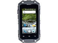 simvalley MOBILE Mini-Outdoor-Smartphone SPT-210 mit Dual-SIM und Android 5.1, IP65; Android-Smartphones, Scheckkartenhandys Android-Smartphones, Scheckkartenhandys Android-Smartphones, Scheckkartenhandys