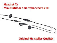 simvalley MOBILE Stereo-Headset für Mini-Outdoor-Smartphone SPT-210