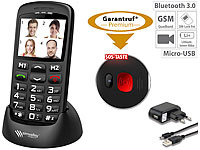simvalley MOBILE Komfort-Handy m. Bluetooth, Garantruf, Ladestation, 5,6-cm-Farbdisplay