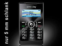 "simvalley MOBILE Mini-Handy RX-380 ""Pico X-SLIM BLACK"" (refurbished); Android-Smartphones"
