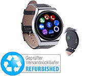 simvalley MOBILE Smartwatch mit Bluetooth 4.0 und Metallgehäuse (Versandrückläufer); Handy-Smartwatches mit Kamera und Bluetooth Handy-Smartwatches mit Kamera und Bluetooth