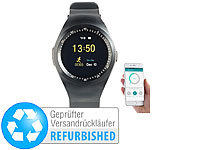 simvalley MOBILE 2in1-Uhren-Handy & Smartwatch für iOS & Android (refurbished)